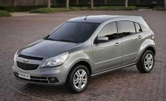Primeira foto oficial do Chevrolet Agile