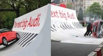 Audi A1 capota em apresentação na Bélgica