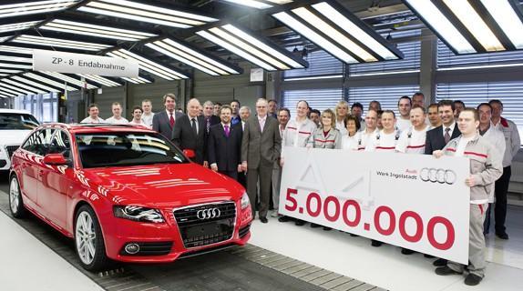 Audi A4 atinge 5 Milhões de Unidades Produzidas