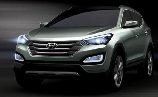 Hyundai Santa Fe 2012 – Primeiras fotos divulgadas no Twitter