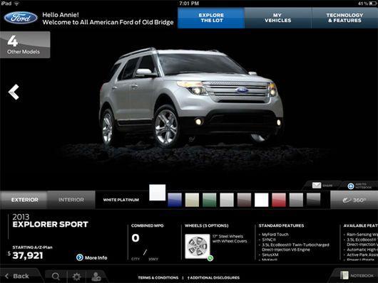 Ford lança aplicativo de iPad para donos de concessionárias da marca