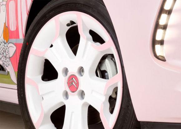 Novo Citröen DS3 rosa (versão feminina)