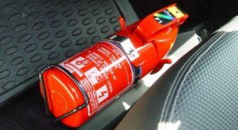 Novo extintor de incêndio automotivo passará a ser exigido em janeiro de 2015
