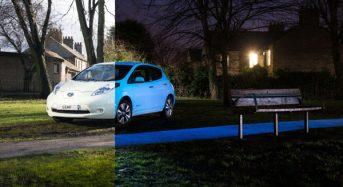 Novo Nissan Leaf usa Tinta que Brilha no Escuro