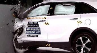 Novo Kia Sorento vai bem em teste de colisão
