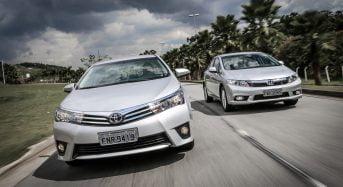 Comparativo de Sedãs 2.0 – Civic ou Corolla?