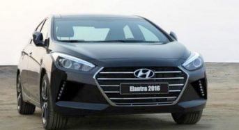 Hyundai Elantra 2016 tem a primeira foto divulgada na mídia