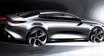 Novo Kia Optima 2016 tem primeiros desenhos revelados