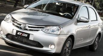 Toyota Etios 2017 terá Novos Motores