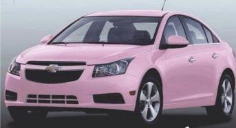 Carros cor de rosa da Mary Kay