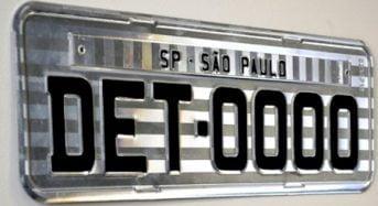 DETRAN-SP irá Personalizar Placas de Veículos
