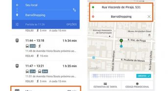 Google Maps permite pedir corrida do Uber