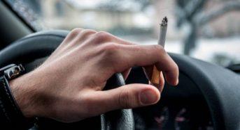 Fumar dentro do Carro poderá Gerar Multa