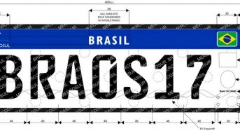 Nova Placa para Veículos no Brasil padrão Mercosul
