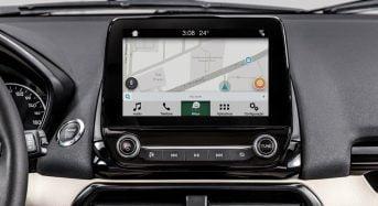 Espelhamento do Waze para iPhone na Central Multimídia Ford