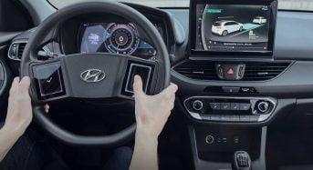 Hyundai apresenta Novo Volante com Tela Touchscreen e Painel 3D